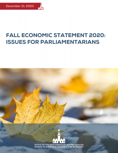 Fall Economic Statement 2020: Issues for Parliamentarians