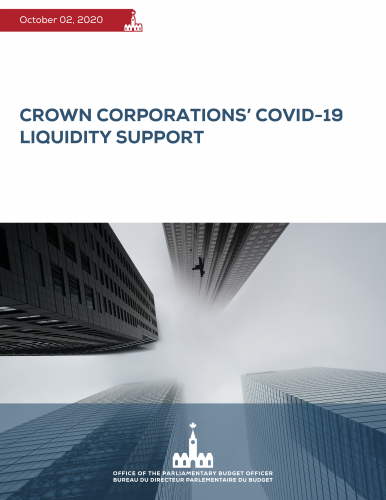 Crown corporations' COVID-19 liquidity support