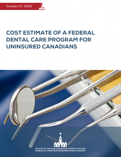 Cost estimate of a federal dental care program for uninsured Canadians
