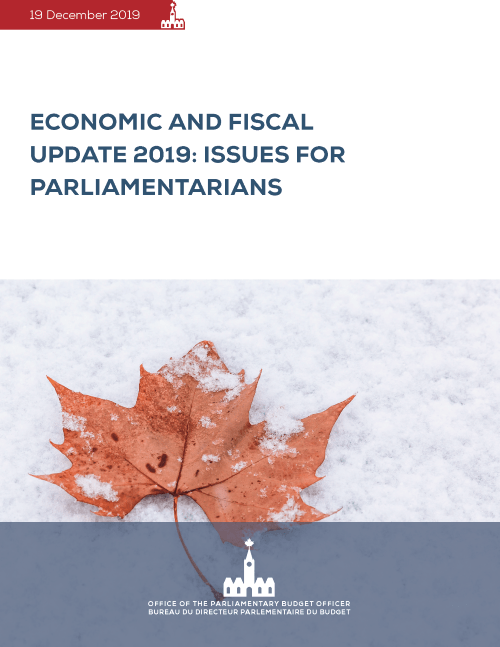 Economic and Fiscal Update 2019: Issues for Parliamentarians