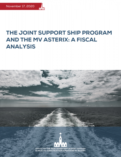The Joint Support Ship program and the MV Asterix: a Fiscal Analysis