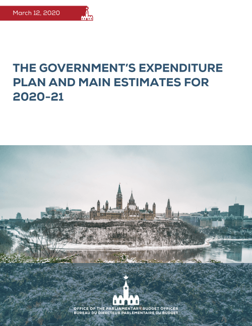 The Government's Expenditure Plan and Main Estimates for 2020-21